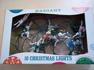 Vintage Radiant Decoratiive Christmas Lights - 10 Horses