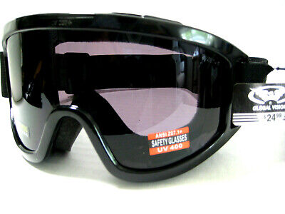 Global Vision ® Z87+ Impact Industrial Eye Safety Glasses Goggles Smoke (Z87 Impact)