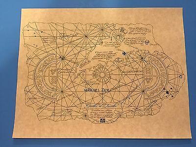 1985 Goonies One Eyed Willie Treasure Map Prop Replica   Mikey   Fratellis