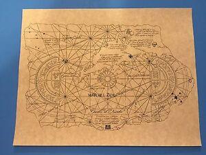 1985-Goonies-de-un-solo-ojo-Willie-mapa-del-tesoro-prop-replica-gt-Mikey-gt-Fratelli-039-s