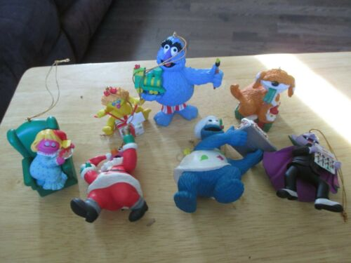 Sesame Street LOT of 7 Christmas Ornaments Dawn, Telly, Count, Cookie ++