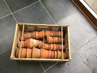 Crate Of Vintage Flower Pots