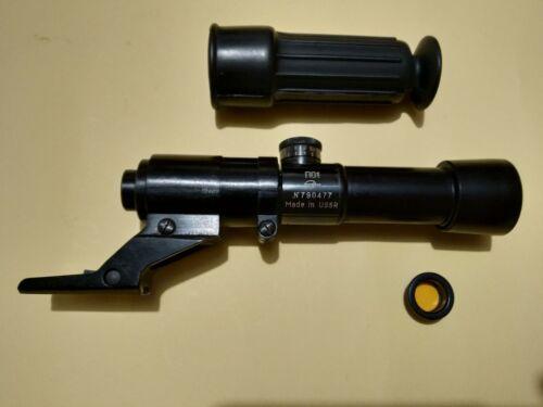 Vintage 1979 PO-1 Scope,Mount,Rubber eye,Yellow Fiiter made in ZOMZ