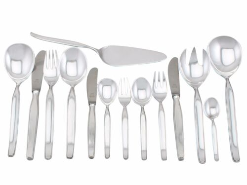 Vintage German Silver Canteen Of Cutlery For Six Persons Circa 1960 64 Pieces