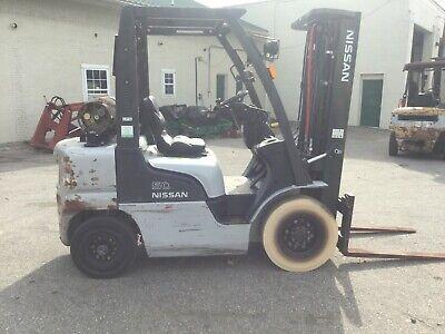 Nice Nissan Mp1f2a25dv 5000 Lb Gas Propane Forklift