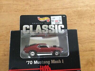 Hot. Wheels classic black box Hills '70 Mustang Mach 1 SEALED -