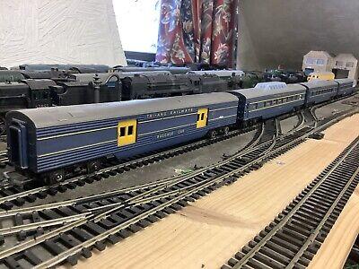 4 x Triang TC Blue Coaches, R134 Baggage, 2 x R132 Vista, R133 Observation VGC