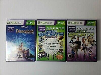 Kinect Sports, Season 2, Disneyland Adventures Microsoft Xbox 360 NIB SEALED for sale  Shipping to Nigeria