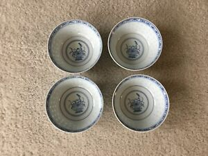 Four Chinese Rice bowls Set