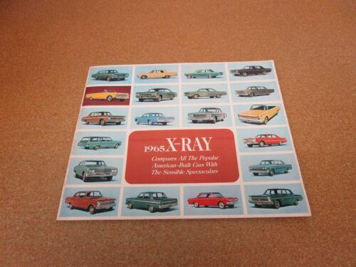1965 American Motors Rambler American Classic X-Ray sales brochure comparison