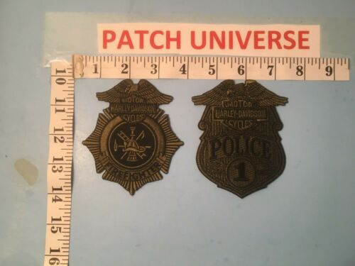 LOT OF 2 DIFFERENT HARLEY DAVIDSON POLICE/FIRE SHOULDER PATCHES  O075