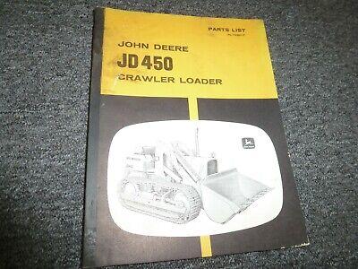 John Deere 450 Crawler Loader Parts Catalog Manual List Plt23811t