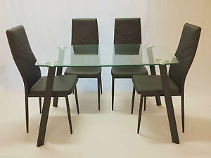 Jolly Harlly 5pc Dining Set,Dining Table and 4 Black Chairs Sydney City Inner Sydney Preview