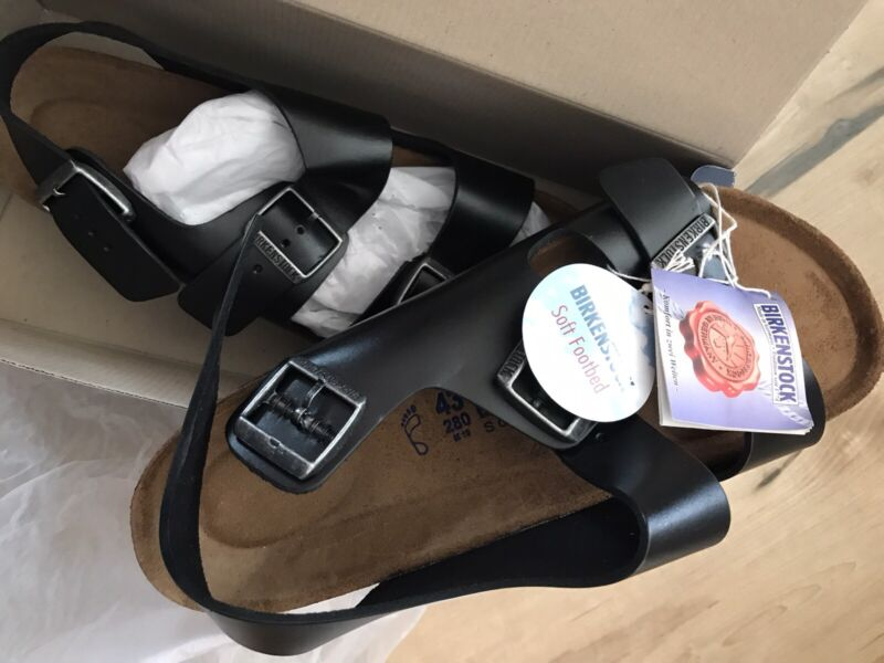 first rate pretty cool wholesale sales Birkenstock Milano Unisex Soft Footbed Leather Sandal size 43 ...