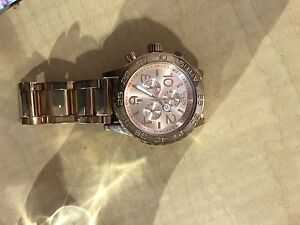 Nixon 42-20 rose gold watch