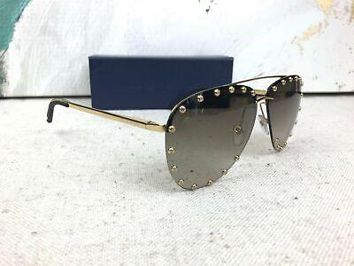 $665 LOUIS VUITTON Z0926U Gold Studded Metal The Party Sunglasses (Sunglasses For Women Sale)