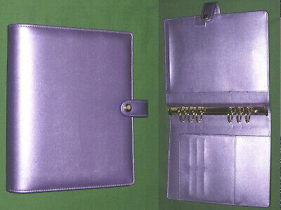 A5 1.25 Metallic Purple Faux Leather Planner Organizer Binder Filofax 9732