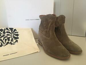 Isabel Marant suede crisi boots in taupe size 37 Malvern Stonnington Area Preview