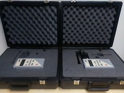 Lot Of Two Biotest Apc Airborne Particle Counter 942005 In Case
