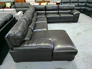 Paramount Leather Corner Lounge - 50% off RRP Epping Whittlesea Area Preview