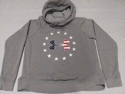 Under Armour Women's Fleece Hoodie Cowl Neck Loose Fit Sweatshirt Medium Gray