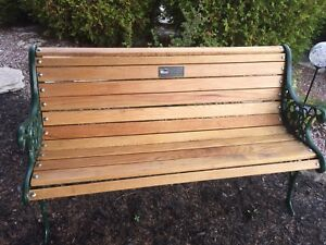 Oak bench outdoor