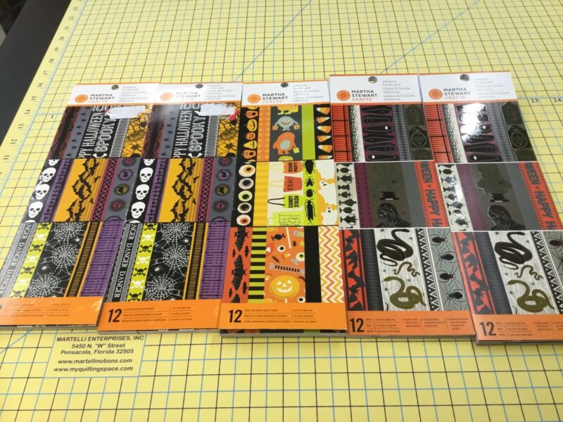 5 Martha Stewart Crafts Halloween Adhesive Border Pad Gothic Manor Lace Monsters