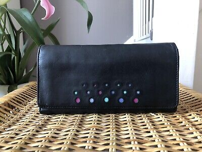 Lovely TULA (By Radley) Genuine Black Leather Purse Wallet