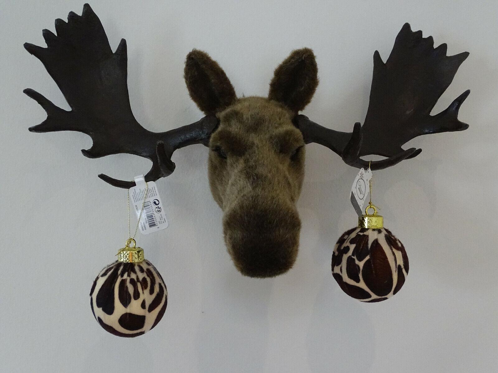 Christbaumschmuck Schmuck Weihnachtskugel Christbaumkugel Giraffe Fell Look