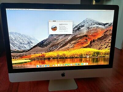 iMAC 27 inch 2.8 GHz i7 Quad core 8GB RAM ATI Radeon HD 4850 High Sierra OS