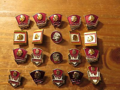 "1970s USSR/Russia  Vintage  ""LENIN"" Badges Lot,20 pieces"