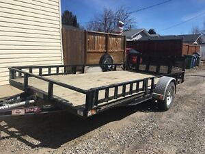 2014 14X7' side loading unique bi-fold gate Utility Trailer