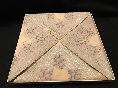 Vintage Crepe Paper  Place Mats with Napkins Made in England
