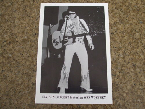 wes worthey elvis in concert arizona city promotional picture photo not presley