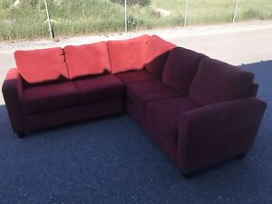 Red sectional couch !
