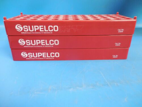 Supelco 23205 Plastic Space Saver Storage Racks 15-16mm Dia. Vials 48 Wells~(3)
