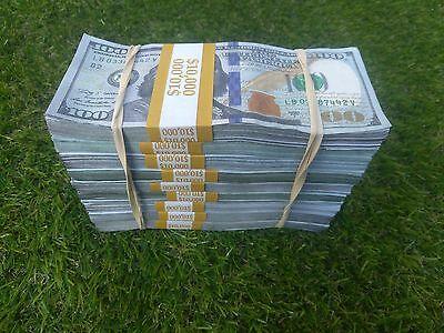 The $100k TRUE BLUE FILLER ILLUSION, Prop Money  (for movies, videos & pranks.
