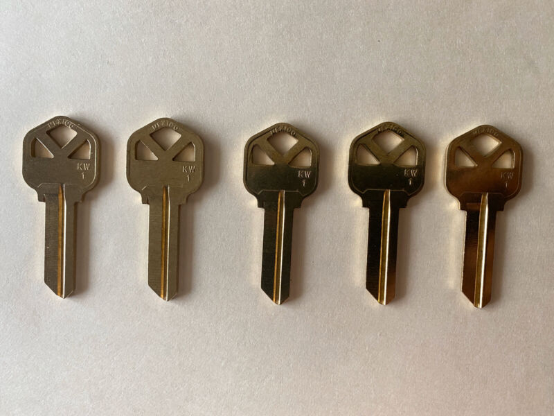 5 Kwikset KW1 keys Cut To Code
