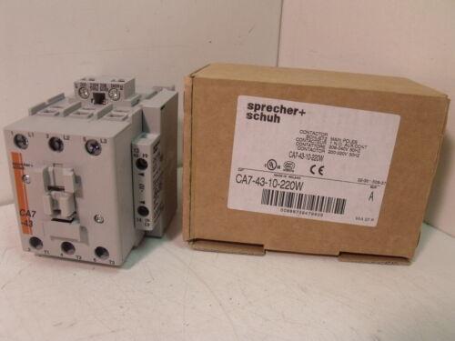 NIB Sprecher + Schuh CA7-43-10-220W Contactor