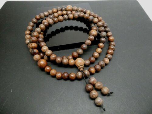 Genuine Kalimantan Wild Agarwood Gaharu Oud 8.5mm Tibetan Prayer Mala Beads