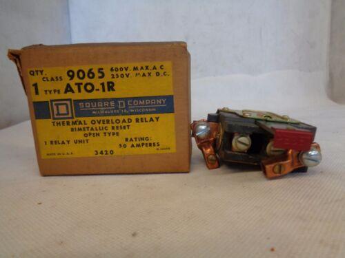 NEW SQUARE D 9065-ATO-1R OVERLOAD RELAY