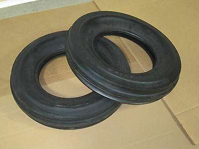 2 New 6.50-16 Tri Tread Front Tires Tubeless Tractor 650-16 6.50x16 3 Rib
