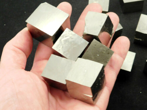 A Larger 100% Natural Pyrite Crystal CUBE From Spain