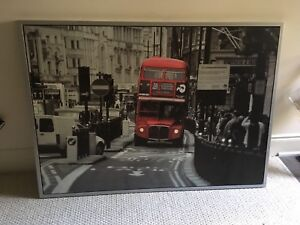 Framed IKEA London bus picture