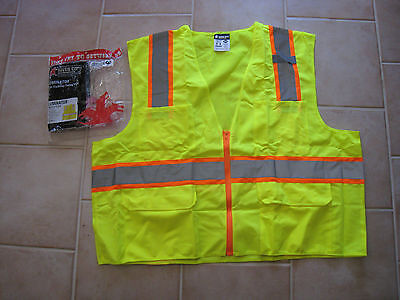 62ca0e5644ea River City Luminator High Visibility Safety Vest SURVLX3 ANSI ISEA 107-2010  3XL