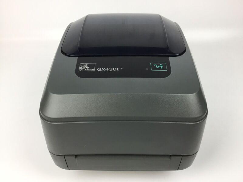 Zebra GX430t Thermal Barcode Label Printer GX43-100410-000 (Printer Only)