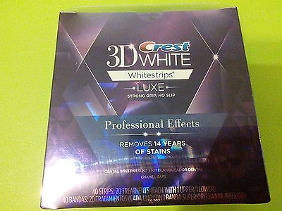 Crest 3D White Whitestrips Professional Effects 20 pouches/40 strips on Rummage