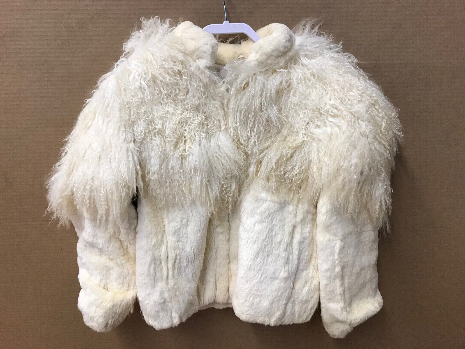 Off White Real Fur Coat - Size L - $99.00