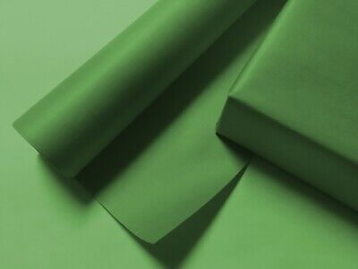 Solid Green Wrapping Paper - up to 8 Feet of Birthday, Christmas Gift Wrap