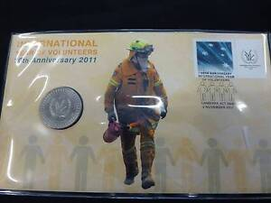 INTERNATIONAL YEAR OF VOLUNTEERS 2011 Uncirculated Coin Campbelltown Campbelltown Area Preview